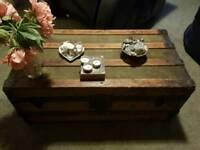Vintage genuine wooden chest