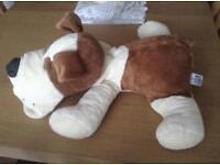 Cuddly boxer dog soft toy