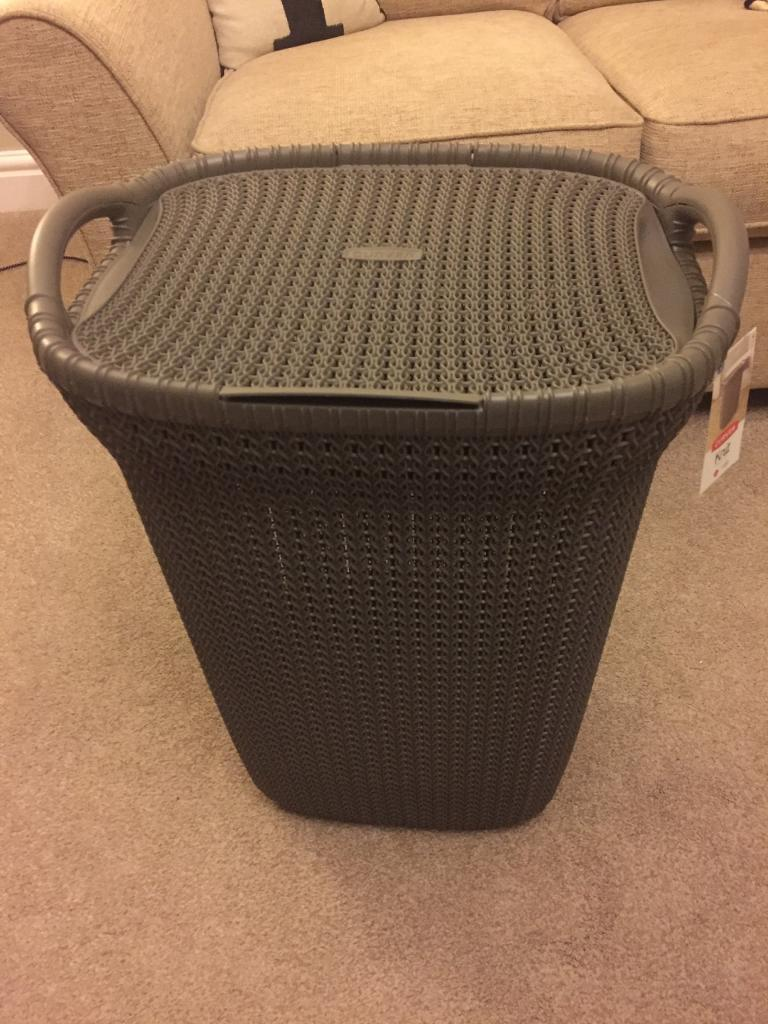 Laundry basket brand new with tagsin Whickham, Tyne and WearGumtree - This is a lovely laundry basket with a knit effect made by curver. I bought two and have decided to keep be other colour. It is very practical but looks good too. Brand new with tags