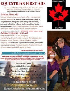 Equine First Aid Clinic 25-26 Aug Blackville
