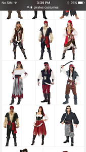 All kids and adult costumes