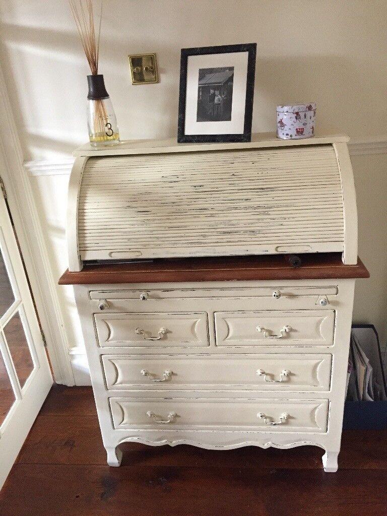 Laura Ashley Bramley Cream Writing Desk Excellent Condition