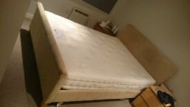 King size Hypnos Ortho Wool mattress + bed frame