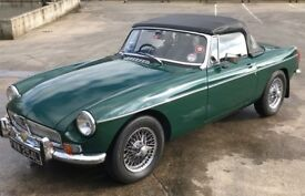British Racing Green MG B Roadster