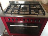 Red range cooker 5 gas burner