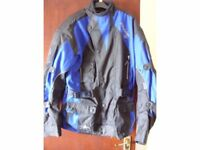 AKITO Python II motorcycle riders jacket, blue/black, size Large