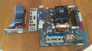 Parts for sale (Motherboard, AMD CPU, RAM, HDMI Video Card)