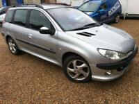 2003 '03' Peugeot 206 SW 2.0 Diesel. Manual. Estate. Ideal Small Family. Px Swap