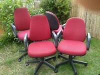 4 x OFFICE CHAIRS