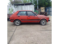 Left hand drive Toyota Starlet KP61L 1.3 S. REAR WHEEL DRIVE. Low miles.