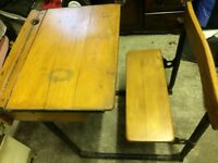 Antique Old School Desk