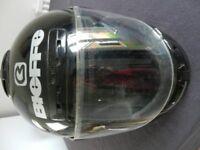 Bieffe black motorbike helmet