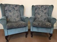 Couple Queen Anne Wing Back Chair