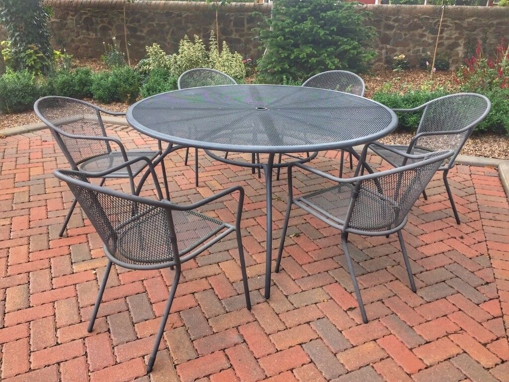 Garden Furniture 6 Chairs patio set - garden furniture, 6 chairs and 150cm round table | in