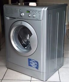 Indesit IWD7145 Washing Machine, 7kg Wash Load, 1400 RPM Spin, A Energy Rating. Silver
