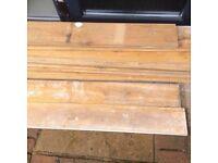 Solid oak flooring reclaimed