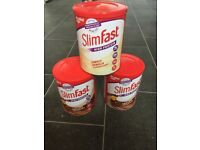 3 tubs of slim fast weight loss powder. Unopened