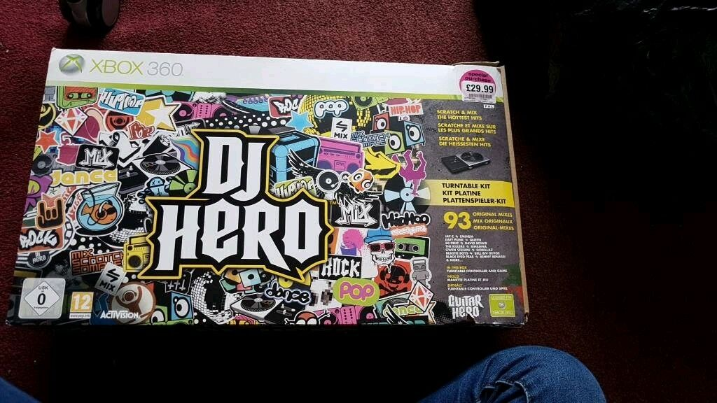 DJ HERO XBOX 360 TURNTABLE AND GAME