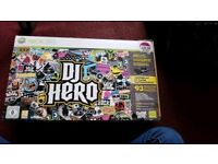 DJ HERO XBOX 360 TURNTABLE AND GAME