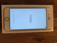 iPhone 6 64gb white/rose gold excellent condition - boxed with charger and phones - EE network
