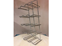 Wine rack in chrome (as new) for 30cm kitchen cupboard, holds 15 bottles - £5