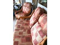 Conservatory Wicker Sofa & Chair