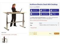 Actiforce ergonomic, height-adjustable office table/ desk. Vgc. RRP £890