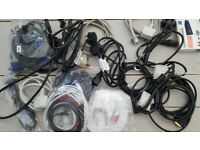 Assorted lot Power Cable Video VGA Network Lan Ethernet Cat5 lead