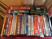 Collection of kids DVDs (55) and Blu-rays (5)