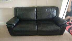 Scs 3 seater leather sofa £200 open to offers