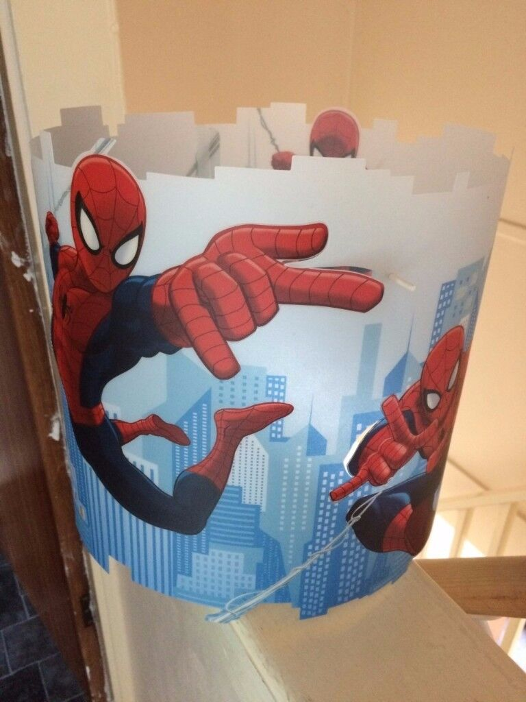 spiderman lamp shade and matching lamp | in Portsmouth, Hampshire ...