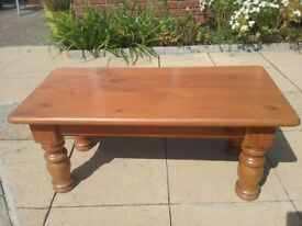 Country style solid Pine Coffee Table