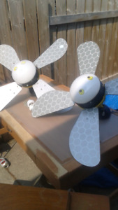 Two kids ceiling fans selling as pair