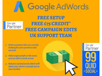 Google Adwords *PPC* Management only £99 per month / Social Media Posting £99 p.m - NO SETUP FEES!