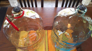 2 - 18.9 LITRE BEER OR WINE CARBOYS