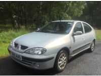 Renault Megane 1.4 Fidji Petrol manual. No MOT, but only minor work reqd. Reduced to £225ono