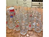 40 Handled Beer Glasses Mugs Assorted - Party Ware