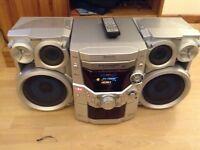 Panasonic 5 cd MP3 changer hifi stereo system £30