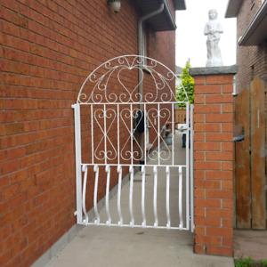Two wrought iron gates
