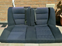 BMW E36 Coupe Full Rear Seats Bench Blue Fabric Interior