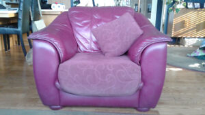 Leather Loveseat / Chair