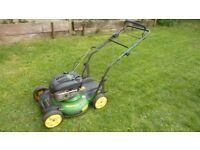 John deere 21' cut mulching mower with side deflecter as well, expensive new