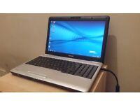 Toshiba 4 GB Ram 320 GB Windows 7 & Office 2010 laptop