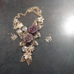 vintage necklace and earrings set # 2