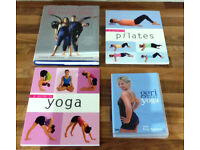 3 BOOKS & 1 DVD ON PILATES & YOGA all as new-very very clean & from a non smoking pet free household