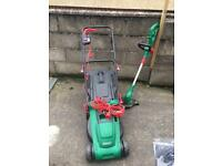 Lawnmower and strimmer set