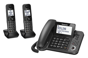 NEW Panasonic KXTGF352C Digital Corded/Cordless Answering System