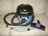 NUMATIC BLUE HENRY HOOVER 1200W TWIN SPEED WITH HOSE PIPES AND FLOOR HEAD