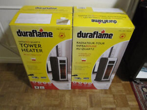 Duraflame Infrared Quartz 1,000 Sq. Ft. Tower Heater - New, in b