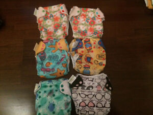 Huge lot of cloth diapers!